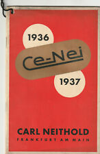 Original-Photo-Katalog Ce-Nei 1936 / 1937