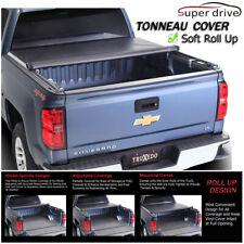 Fits 2005-2011 Dodge Dakota Quad Cab Roll Up Lock Soft Tonneau Cover 6.5ft Bed
