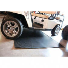 Golf Cart Black Ribbed Garage Mat for Club Car Ezgo Yamaha 4 x 8