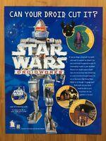 Star Wars: DroidWorks PC 1998 Vintage Poster Ad Art Print Official Promo Rare