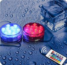 RGB LED Unterwasserbeleuchtung Unterwasser Lampe Tauchlampe mit Fernbedienung