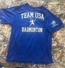 Olympic Training Center Team USA Badminton T-Shirt Sz. SM. Bought at Center.