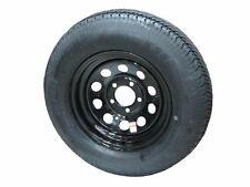 "*2* 205/75D14 LRC Kenda K558 Bias Trailer Tires on 14"" 5 Lug Black Mod Wheels"