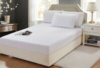EXTRA DEEP QUILTED MATTRESS PROTECTOR COTTON FITTED COVER 4FT SMALL DOUBLE KING