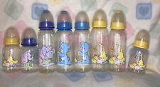 Vintage Baby Bottle's Bisby!! Elephant,Giraffe,Bear!!Cute Patterns-8&4 OZ