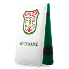Golf Scorecard Yardage Book Customize Holder Cover with Your Name Engraved White