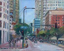 8th & Fig Downtown Los Angeles Plein Air Impressionism Cityscape John Kilduff