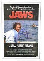 Richard Dreyfuss Signed Jaws 11x17 Photo Movie Poster JSA COA Autograph