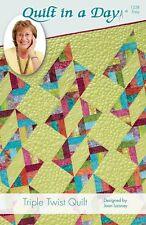Triple Twist Quilt in a Day pattern, Eleanor Burns & Joan Laisney, Easy 1228
