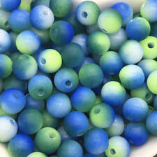 5mm 100pcs Round Pearl Matte multicolored Loose Beads Spacer Jewelry Making #11