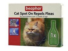 Beaphar Cat & Kitten Flea Spot On Treatment Repels Fleas & Ticks for 4 Weeks