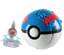 "NEW Pokemon Rotom 2"" Figure Throw 'N' Pop Great Ball Poke ball set TOMY official"