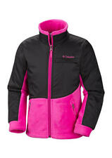 NWT girls COLUMBIA lightweight Zip Front Jacket Pink Black Sz Small $50 tag