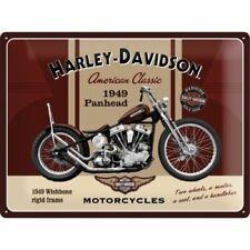 1949 PANHEAD HARLEY DAVIDSON METAL SIGN AMERICANA QUALITY HOME DECOR / MAN CAVE