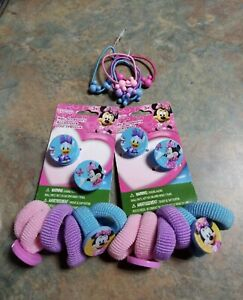New Disney Minnie Mouse Mickey Daisy Hair Ties & Clips Lot