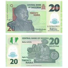 Nigeria 20 Naira 2017 Polymer Replacement DZ Prefix P-New Banknotes UNC