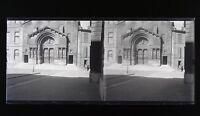 Francia Arles San Trófimo Foto Estéreo L6n21 Vintage Placa De Cristal Negativas