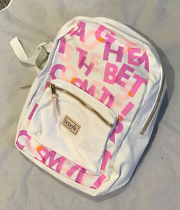 New Benefit Branded White Cotton Backpack