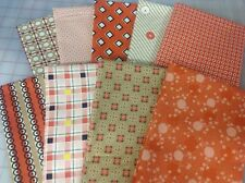 Denyse Schmidt Stonington Fabric Fat Quarter Bundle in Salmon/Coral
