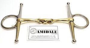 AMIDALE FULL CHEEK HORSE BIT COPPER MIX LOZENGE STAINLESS STEEL GERMAN STEEL BNW