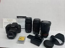 Canon Eos Rebel 17 Camera with 4 Lens