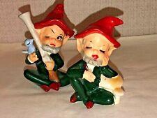 2 Vintage Porcelain Ceramic Elves / Pixies / Gnomes, Kilarney, Figurines