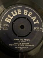 DEREK MORGAN Now We Know BLUE BEAT 45, SKA REGGAE ORIG RECORD RARE VINYL