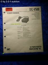 Sony Service Manual DC V500 Car Battery Charger (#2627)
