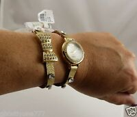 gold fancy bling wrap around  watch goldtone trendy crystal around face