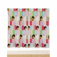 Dora The Explorer 'Buttons' 66 X 54 Inch Drop Curtain Pair Brand New Gift