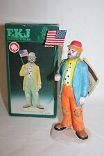 "1986 Emmett Kelly Flambro Figurine ""Old Glory"" Clown Figurine 9910B Rare"