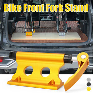 MTB Road Bike Front Fork Stand Holder Bicycle Quick Release Fixed Clamp For Car