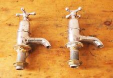 Vintage large industrial taps hot cold globe chrome