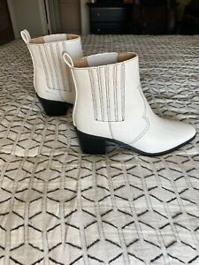 White Western Booties Size 9