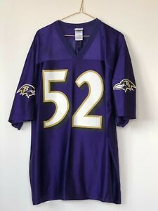 VINTAGE Ray Lewis NFL Baltimore Ravens Jersey Replica Men's XL 100% Polyester
