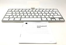 Apple iPad Keyboard Dock A1359 for 1st, 2nd & 3rd Gen White Silver 30 Pin