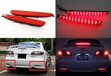 2x 03-08 Mazda6 Atenza Red Lens Rear Bumper LED Reflector Tail Brake Stop Light