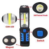 USB Rechargeable 3W COB LED Work Light Lamp Magnetic Flashlight Hanging Torches