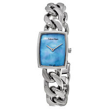 Calvin Klein Women's Amaze Blue MOP Dial Stainless Steel Quartz Watch K5D2M12N