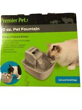 Premier Pet Products Pet Fountain 50 Ounce Capacity Bowl for Cats and Small Dogs