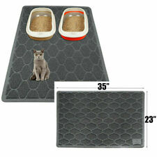 "Grey Pets Cat Litter Mat Durable Waterproof Easy Cleaning Non-slip 35""x23"""