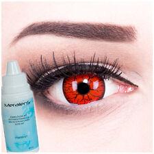 Farbige Fun Crazy Kontaktlinsen Metatron 17mm Halloween GRATIS Komplettset funny