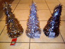 Three Tinsel Trees Christmas