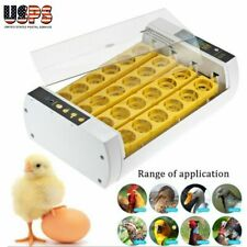 New listing Chicken 24 Egg Incubators Automatic 110V White Yellow Chick Duck Hatcher