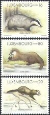 Luxembourg 1996 Badger/Polecat/Otter/Animals/Nature/Wildlife 3v set (n42738)