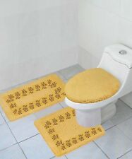 3 Pc Bathroom Set Mat rug contour