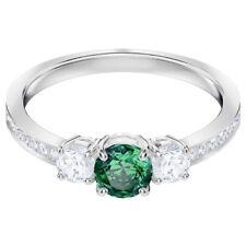 RETIRED ATTRACT TRILOGY RING GREEN RHODIUM SIZE 9 E60 SWAROVSKI JEWELRY 5448876