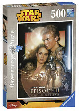 STAR WARS EPISODE I-VI ATTACK OF THE CLONES 500 PIECE RAVENSBURGER JIGSAW