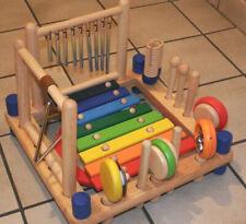 I`m Kleinkind buntes Musikset aus Holz  Rasseln-Trommeln-Klingeln