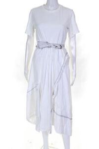 3.1 Phillip Lim Womens Cotton T-Shirt Combo Maxi Dress White Size 6 11383349